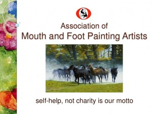 mouth & foot painting artists